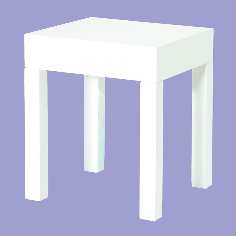 beistelltisch lineas hochglanz wei 86 50 ichverkaufea. Black Bedroom Furniture Sets. Home Design Ideas