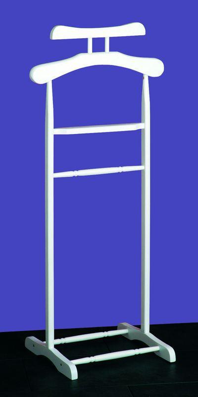 haku herrendiener aus wei lackiertem massivholz 31 90. Black Bedroom Furniture Sets. Home Design Ideas