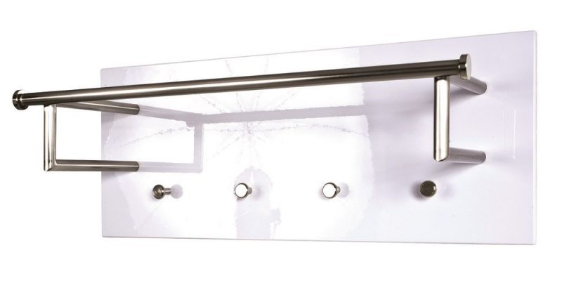 haku wandgarderobe stahl in edelstahloptik paneel in mdf dekor hochg. Black Bedroom Furniture Sets. Home Design Ideas