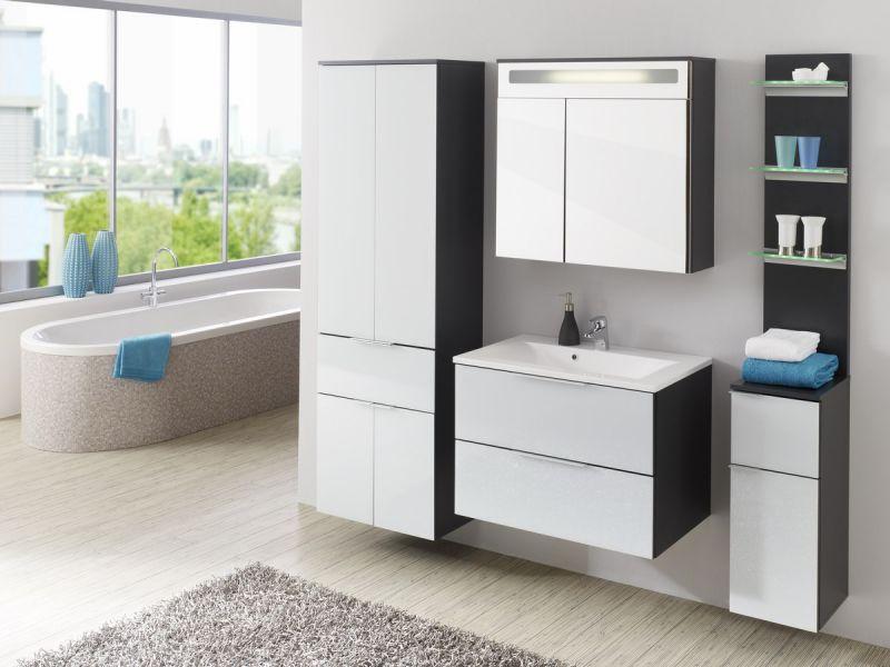 kesper badm bel tessin h ngeschrank in anthrazit melamin gl. Black Bedroom Furniture Sets. Home Design Ideas