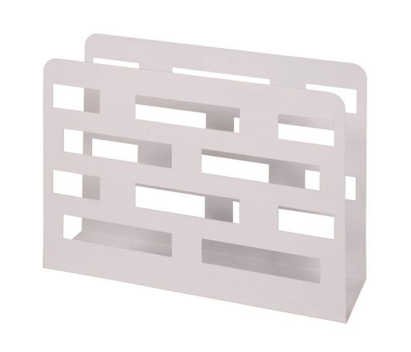 haku zeitungsst nder metall wei lackiert 30 90. Black Bedroom Furniture Sets. Home Design Ideas