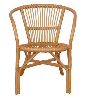 rattansessel rattanstuhl inkl sitzkissen in honigfarben ichverka 156 90. Black Bedroom Furniture Sets. Home Design Ideas