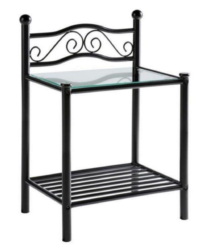 nachttisch nachtkonsole 2er set in schwarz 94 90 ichverk. Black Bedroom Furniture Sets. Home Design Ideas