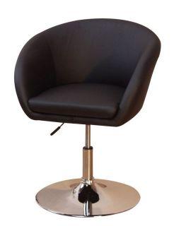 lounge chair drehsessel drehstuhl in schwarz chrom 119. Black Bedroom Furniture Sets. Home Design Ideas
