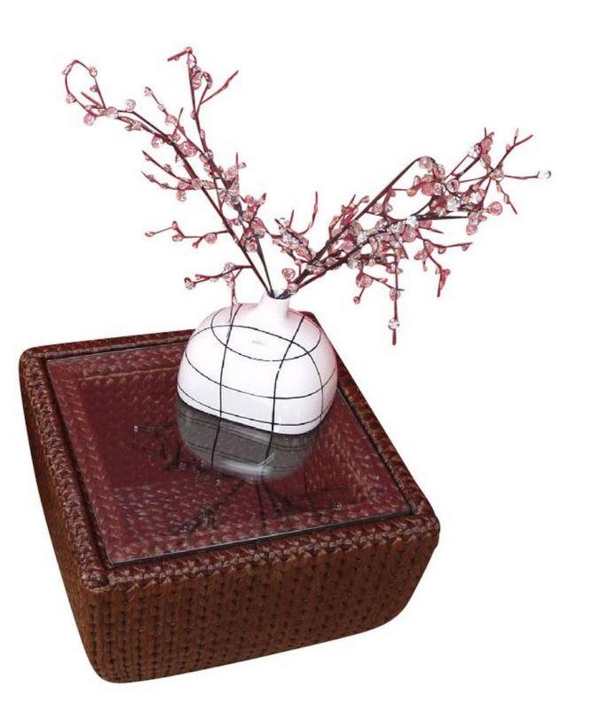 beistelltisch wasserhyazinthe braun mit glasplatte 69 90 ic. Black Bedroom Furniture Sets. Home Design Ideas