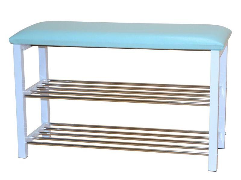 schuhregal sitzbank in t rkis wei 80 cm breit ichverkaufealles 76 90. Black Bedroom Furniture Sets. Home Design Ideas